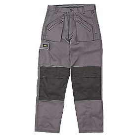 "Site Terrier Classic Work Trousers Grey 38"" W 32"" L"