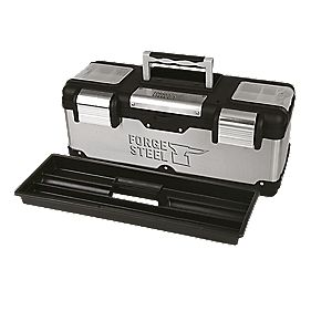 "Forge Steel 26"" Stainless Steel Tool Box"