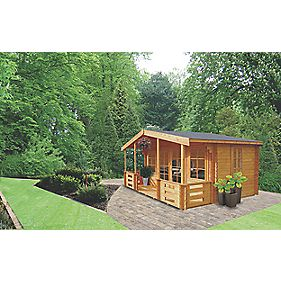 Lydford 3 Log Cabin 4.1 x 5 x 2.5m Assembly Included