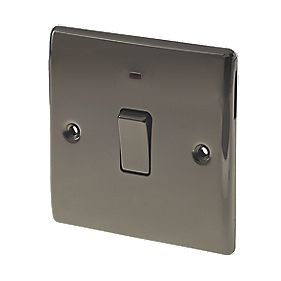 British General 20A 1-Gang DP Switch with LED Black Nickel