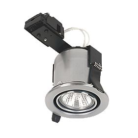 Linolite:Sylvania Adjustable MR16 Brushed Steel Fire Rated Downlight