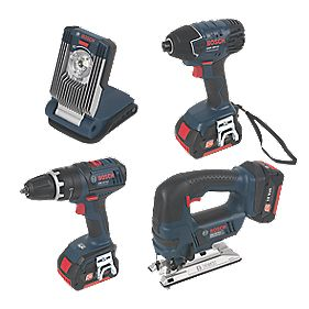Bosch 18V 2.6Ah Li-Ion Cordless 4-Piece Kit