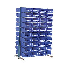 MDS1.5 Spacemaster Double-Sided Storage Bin Kit 80 x TC4 Blue