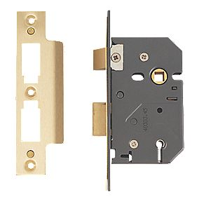 "Yale 5-Lever Mortice Sashlock Polished Brass "" / 64mm"