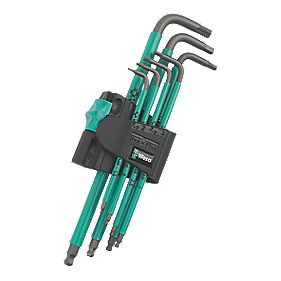 Wera 950 SPKL/7B SM Hex-Plus SPKL Long Ball-End Key Set 7Pcs