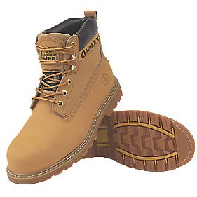Amblers Steel Welted Safety Boots Tan Size 8
