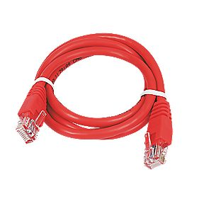 Patch Lead Red 1.0m Pack of 10