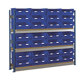 Toprax Longspan Starter Bay w/ 28 x TC6 Blue Containers 1812 x 328 x 1500mm