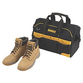 DeWalt Apprentice Safety Boots Wheat Size 12 + Free Tool Bag