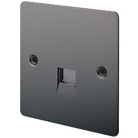 LAP 1-Gang Master Telephone Socket Black Nickel
