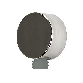 Swirl Shower Outlet Supply Elbow 75 x 60 x 35mm Chrome 60mm