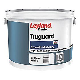 Leyland Trade Truguard Masonry Paint Brilliant White 10ltr Masonry Paints