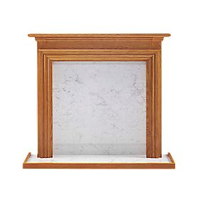 Winther Browne Ludlow Traditional Fire Surround Set Real Oak Veneer