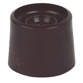 PVC Door Stops Black 20 x 32.5mm Pack of 10