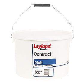 Leyland Contract Matt Emulsion Brilliant White 10Ltr