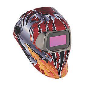 3M Speedglas 100V Welding Helmet Red / Silver / Orange