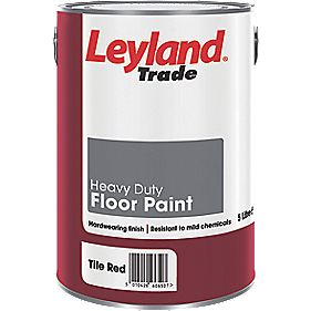 Leyland Trade Heavy Duty Floor Paint Tile Red 5Ltr