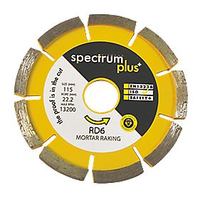 Spectrum Mortar Rake Diamond Blade 115 x 6 x 22.2mm