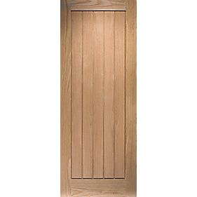 Jeld-Wen Cottage Solid Cottage Interior Panelled Door Oak Veneer 1981 x 686mm