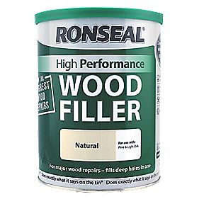 ronseal high performance wood filler natural 1kg wood. Black Bedroom Furniture Sets. Home Design Ideas