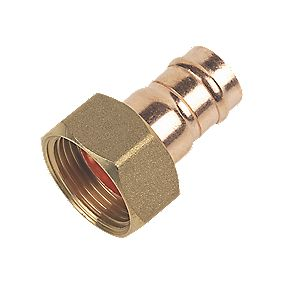 "Solder Ring Straight Tap Connectors 15mm x ¾"" Pack of 2"