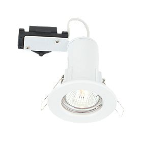 LAP Fixed Round Low Voltage Fire Rated Downlight Gloss White 12V