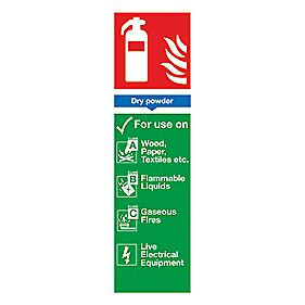 Dry Powder Extinguisher ID Sign 280 x 90mm