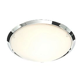 Treviso Rim Bathroom Ceiling Light Chrome Effect E14 40W