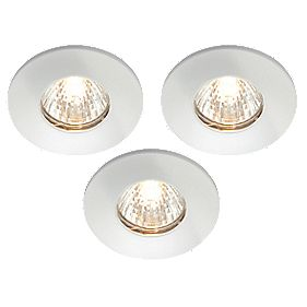 LAP Fixed White 12V Low Voltage Bathroom Downlights Pack of 3