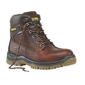 DeWalt Titanium Safety Boots Tan Size 12