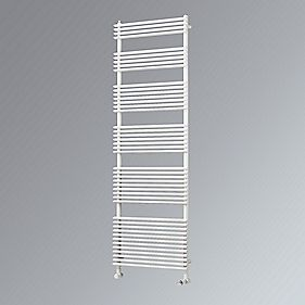 Calido Vertical Designer Towel Radiator White 1460 x 600mm 3105BTU