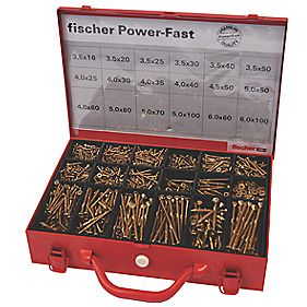 Fischer Power-Fast Screws Trade Case 2300 Pieces