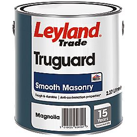 Leyland Trade Truguard Smooth Masonry Paint Magnolia 2.5Ltr