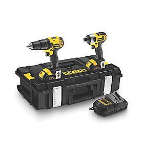 DeWalt DCK235C2 14.4V 1.5Ah Li-Ion Twin Pack Combi Drill & Impact Driver XR