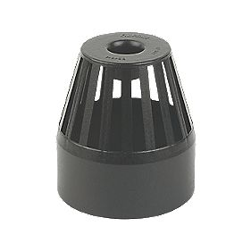 FloPlast SP302CI Cast Iron Effect Vent Terminal 110mm Black