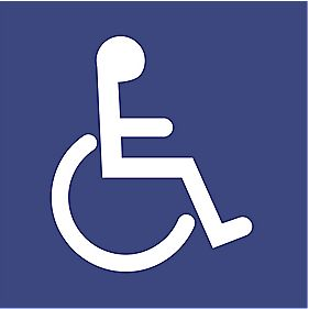 "Braille ""Disabled Toilet"" Symbol Sign 150 x 150mm"