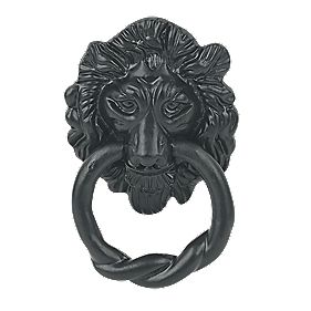 Antique Lion Door Knocker Black 85 x 145mm