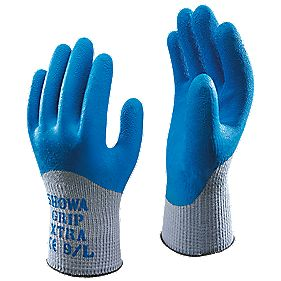 Showa Best 305 General Handling Grip Xtra Gloves Blue Medium