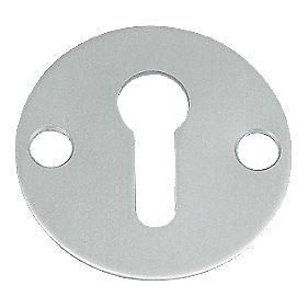 Standard Key Escutcheon Open Aluminium 32mm Pack of 5