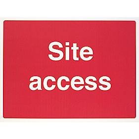 """Site Access"" Sign 450 x 600mm"