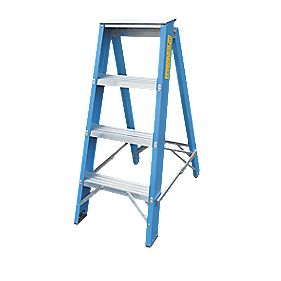 Lyte SFGSL4 Swingback Builders Step Ladder 4-Tread 0.99m