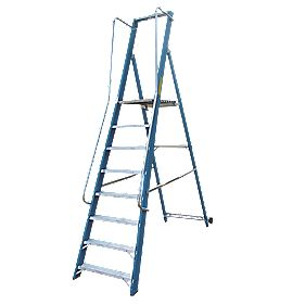 Lyte Widestep Platform Step Ladder Fibreglass 8 Treads 2.7m