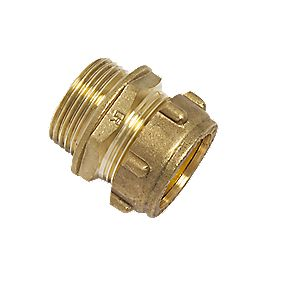 "Conex Male Straight Connector Taper 302TA 28mm x 1"" DZR"