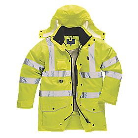"Hi-Vis 7-in-1 Jacket Yellow Medium 40-41"" Chest"