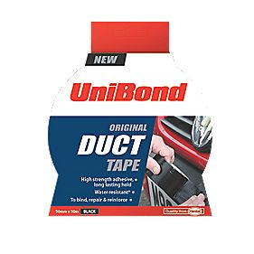 Unibond Cloth Tape Black 50mm x 50m