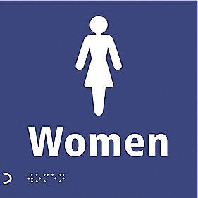 "Braille ""Female Toilet"" Sign 150 x 150mm"