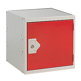 Security Cube Locker 300mm Red