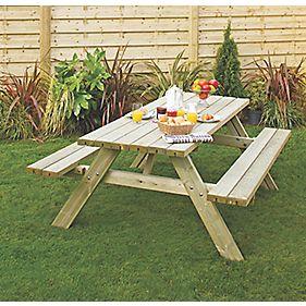 Grange Oblong Garden Picnic Table 2000 x 1530 x 810mm
