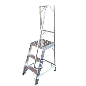 Single Sided Fixed Platform Ladder 5-Tread