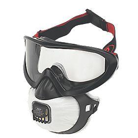 JSP FilterSpec Pro Valve Respirator Black P2